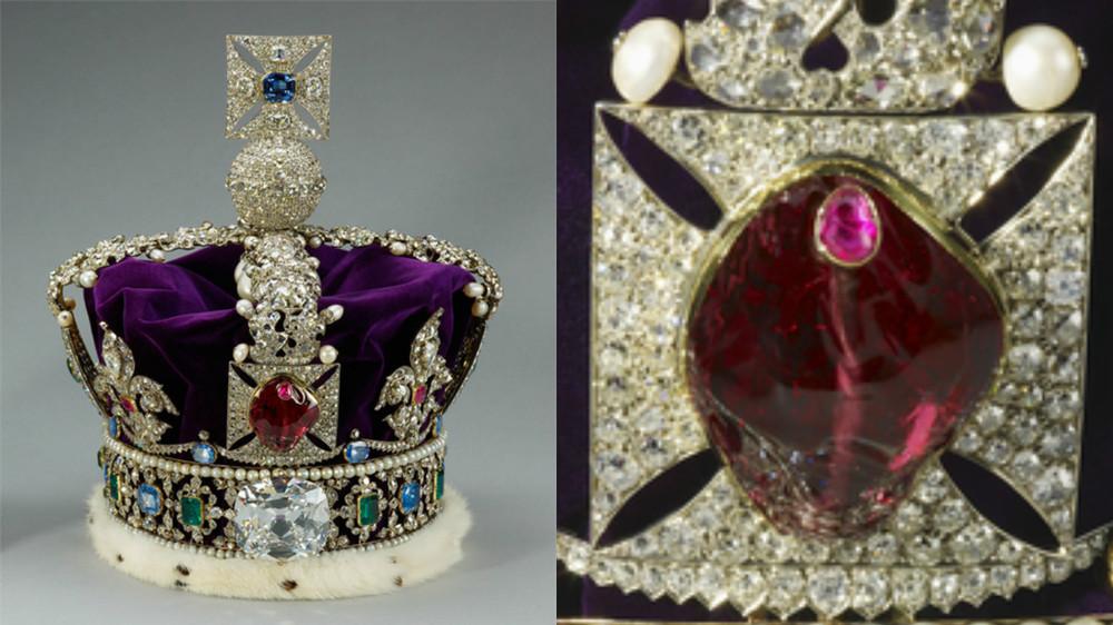 Coroana Imperiala de Stat pe care este montat rubinul Printului Negru