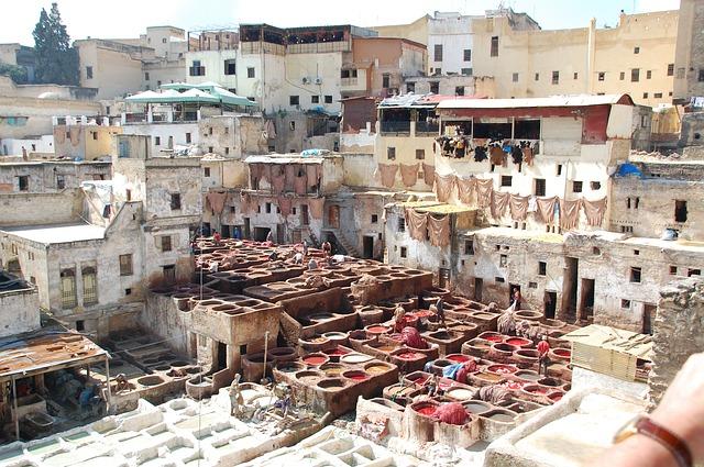 Maroc - vopsitul panzelor