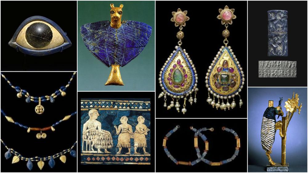 Bijuterii si obiecte de arta cu Lapis Lazuli (Sumer, Mesopotamia, Persia)