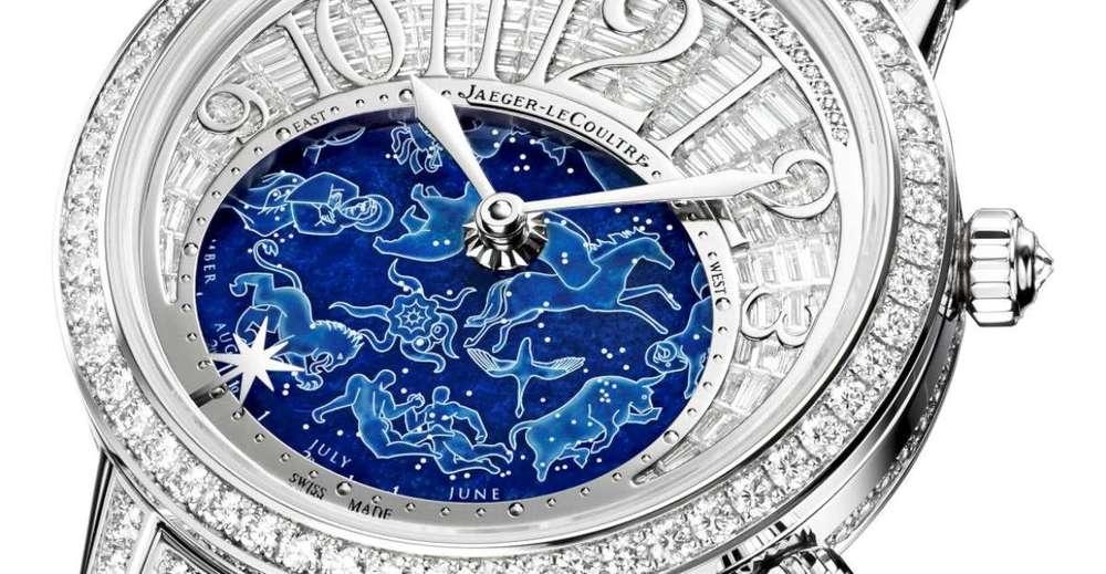 Ceasul Rendez-Vous Célestial reprezentant zodiile in piata de Lapis Lazuli (Jaeger-LeCoultre)