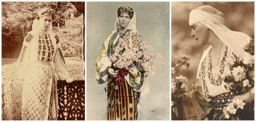 Costumul traditional romanesc a fost tinuta pe care Regina Maria a iubit-o intreaga viata, dovada numeroasele marturii fotografice si numeroasele sale scrieri pe care le-a lasat in urma sa.