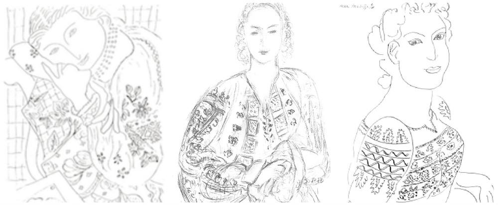 Cateva dintre schitele lui Matisse cu ii romanesti