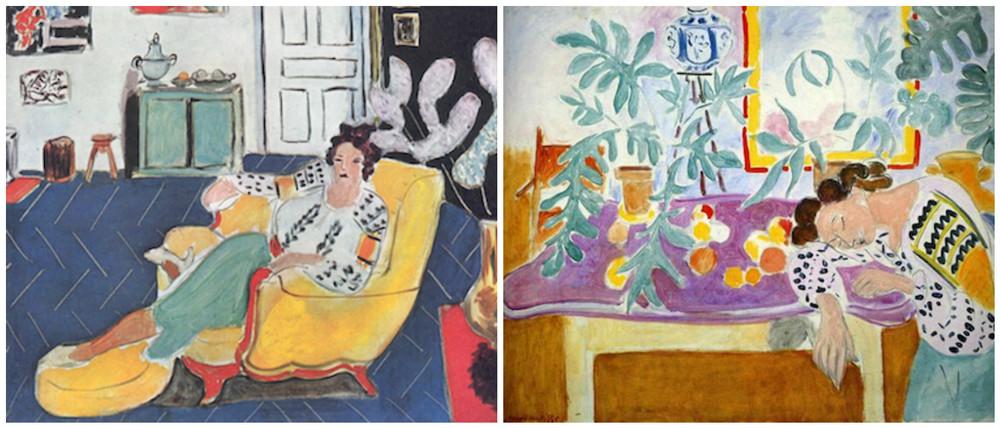 1. Fata tanara pe canapea galbena (1940) 2. Natura moarta cu o femeie dormind (1940)