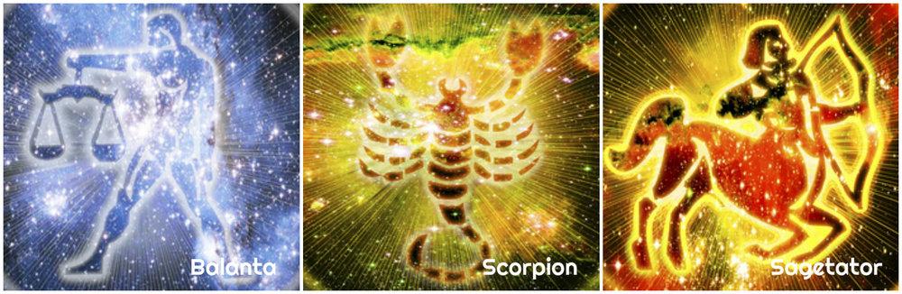 Balanta. Scorpion. Sagetator