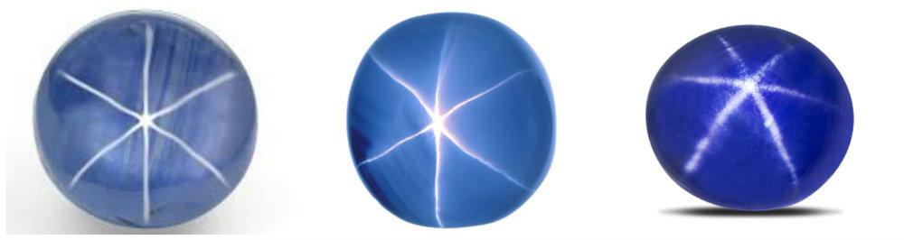 Safir stea (diverse nuante)