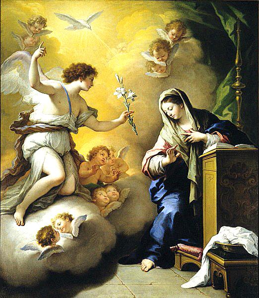 Buna Vestire - pictura de de Paolo de Matteis (1712)