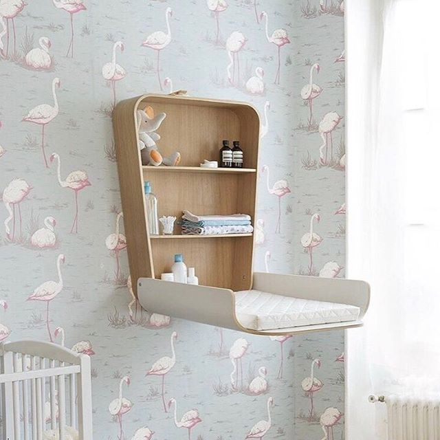 Babies don't take up a lot of room, but some how we pile up on the S T U F F that we T H I N K they need. Don't have the space for a large changing table--how about using something like this amazing @charliecraneparis piece? Talk about space saver!  Pic: @smallable_store . . . . . #spacesaver #amazing #soclever #charliecraneparis #babies #changingtable #babyroom #nursery #nurseryinspo #nurseryinspiration  #interior #interiordesign #interiorstyle #interiordecor #decor #style #nurserystyle #kids #kiddos #babystuff #declutter #lessismore