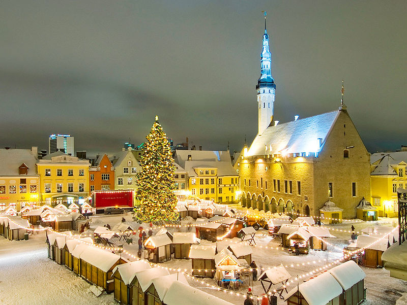 Tallinn's Old Town Square in winter [photo credit: Nathan Lund]