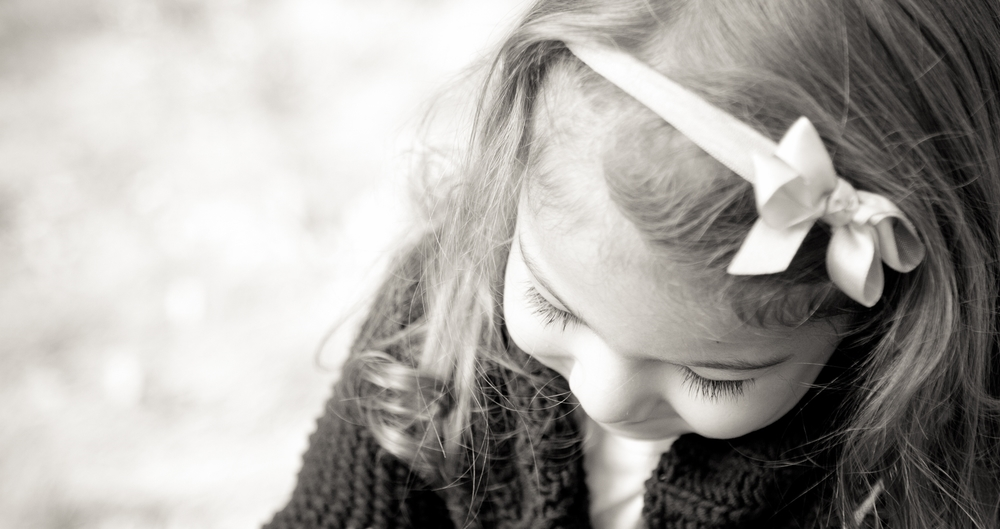 Black and white portrait of young girl - Sunday Kind of Love natural light children's photography