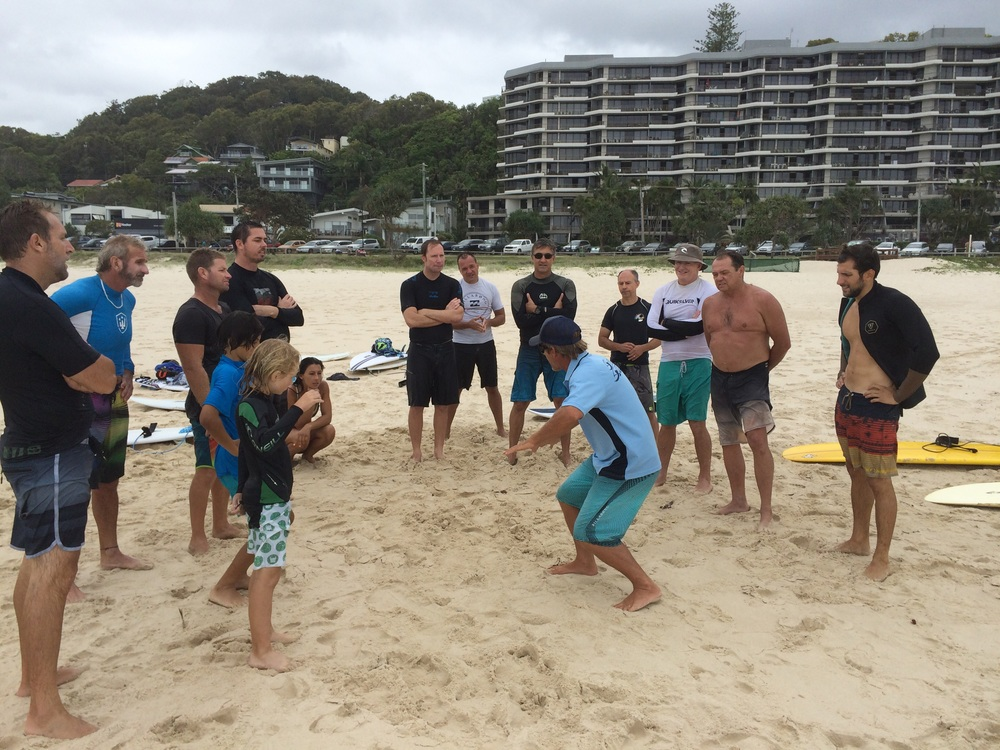 Richo sharing the secrets of surfing most people never workout.