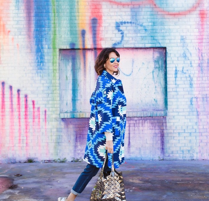 how to wear color as a fashion blogger