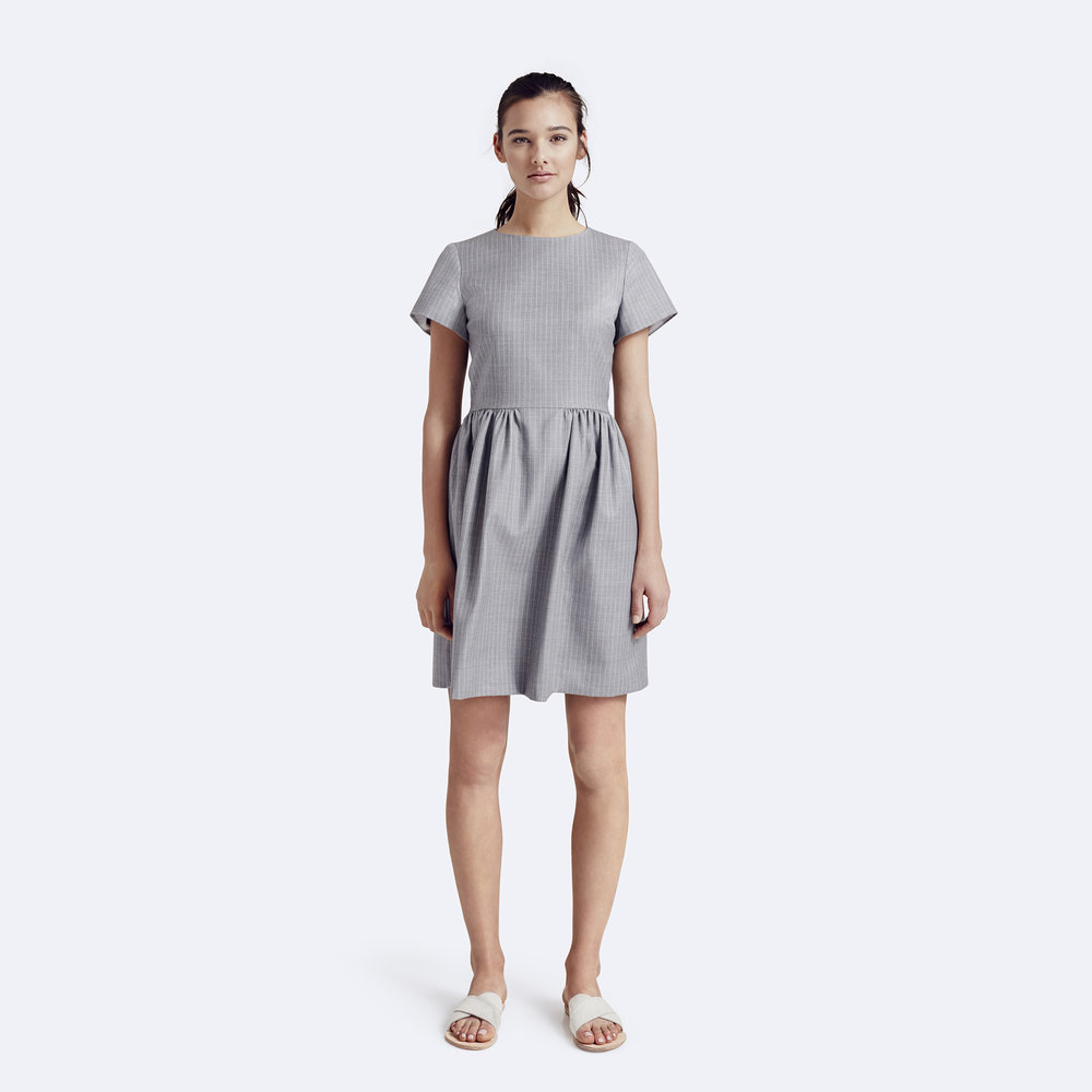 Rallier - Patricia Dress - Australian Merino Wool - Graphite - Front.jpg