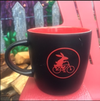 Bunny on a Bike Coffee Mug