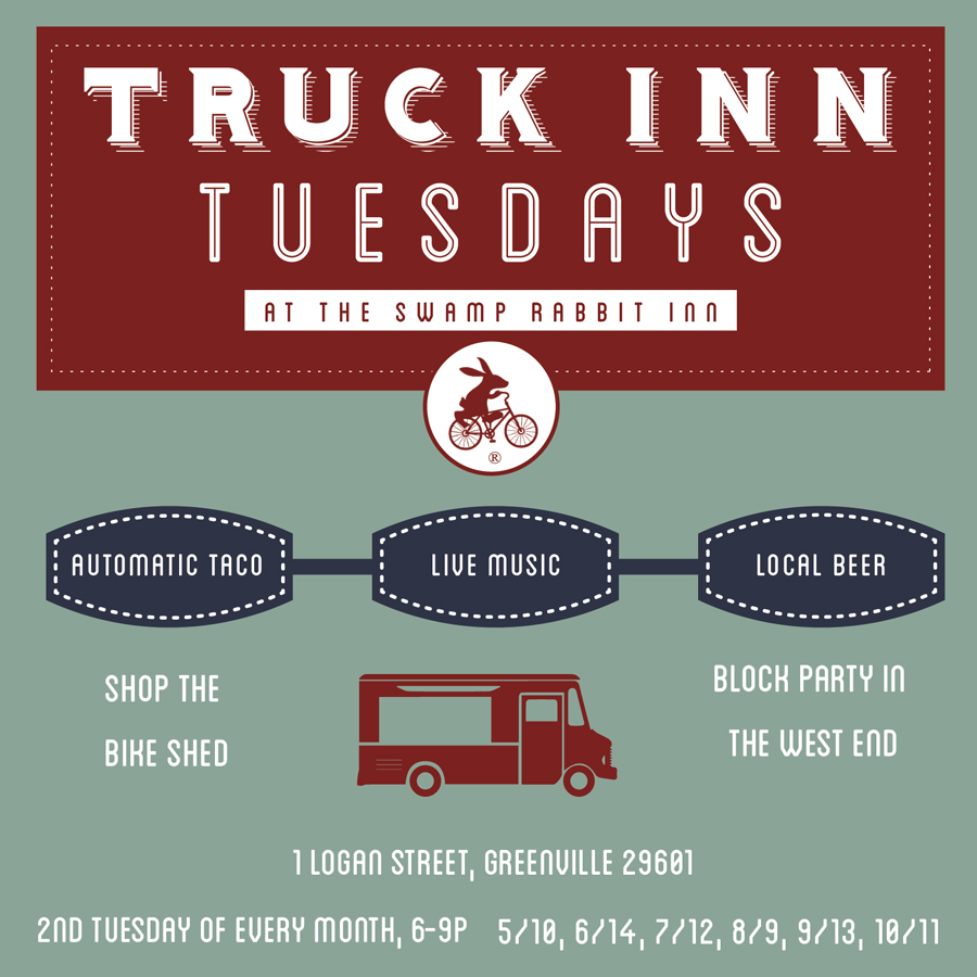 Join us every second Tuesday of the month from 6-9pm in the parking lot of the inn for live music and Automatic Taco food truck, craft beer and mingle with old and new friends, locals and visitors.  Block party in the West End!