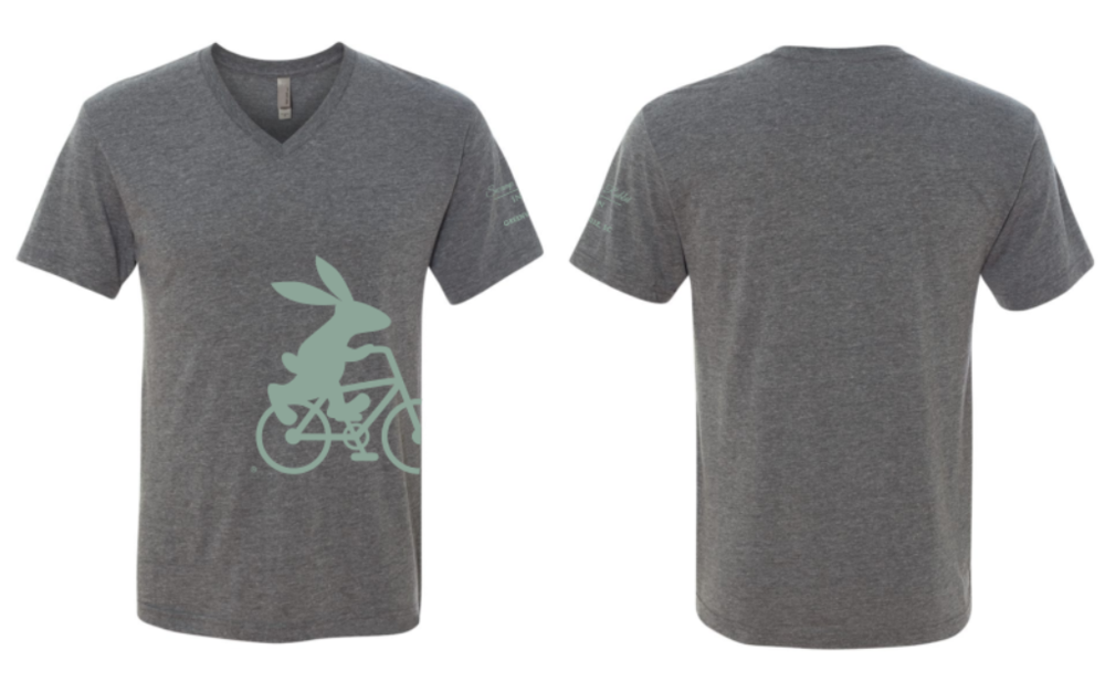 Swamp Rabbit Inn Gray V Neck T Shirt