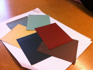 Exterior paint colors for the future Swamp Rabbit Inn