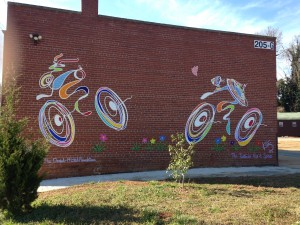 Public art on the Swamp Rabbit Trail
