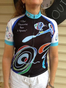 "Get Your Limited Edition Cycling Jersey ""Tortoise Has a Spare"""
