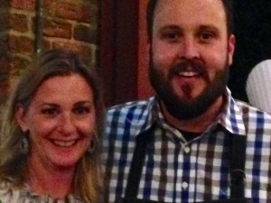 Wendy Lynam met Chef Ben Vaughn