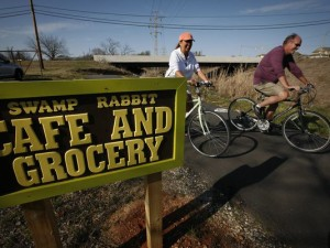 Swamp Rabbit Cafe on Trail