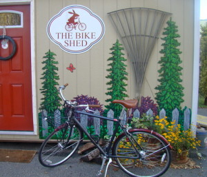 rent a bike in downtown Greenville SC from the Bike Shed at the Swamp Rabbit Inn