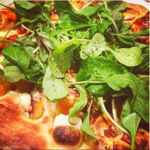Fresh greens on a pizza!!!