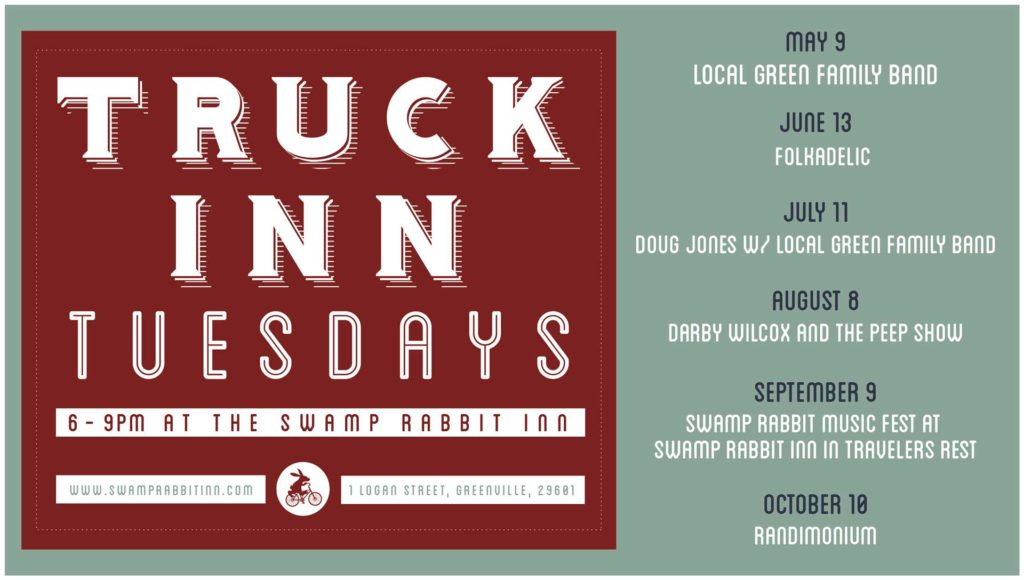 Swamp Rabbit Inn Truck Inn Tuesday