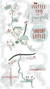 Swamp Rabbit Trail Map by Swamp Rabbit Inn