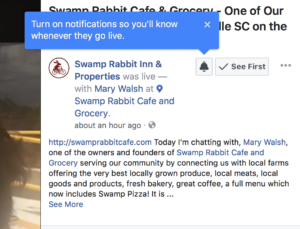 Swamp Rabbit Inn Facebook Live