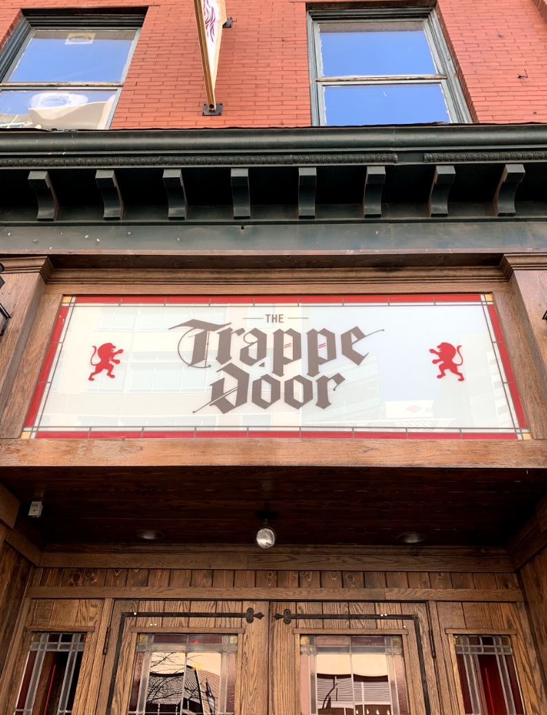 We started at the Trappe Door on Washington Street in downtown Greenville, South Carolina