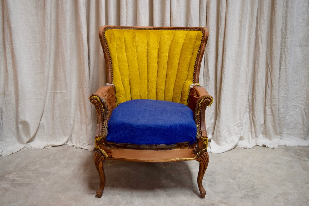 Deconstructed Mustard Wingback