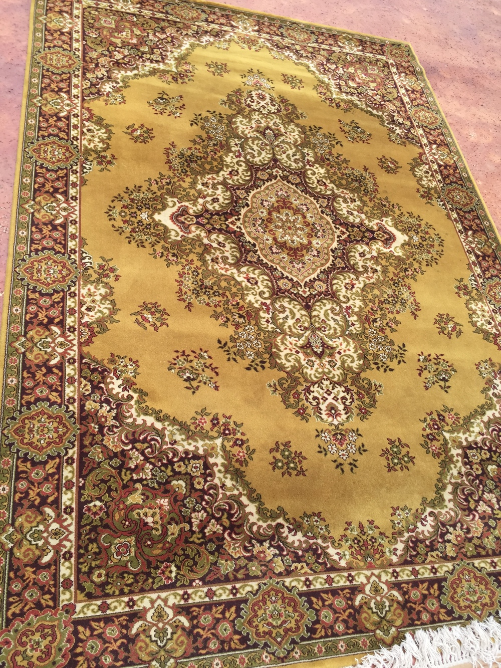 Large Chartreuse Rug