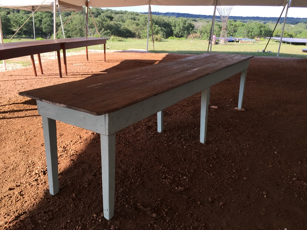 10 ft Blue Apron Farm Table