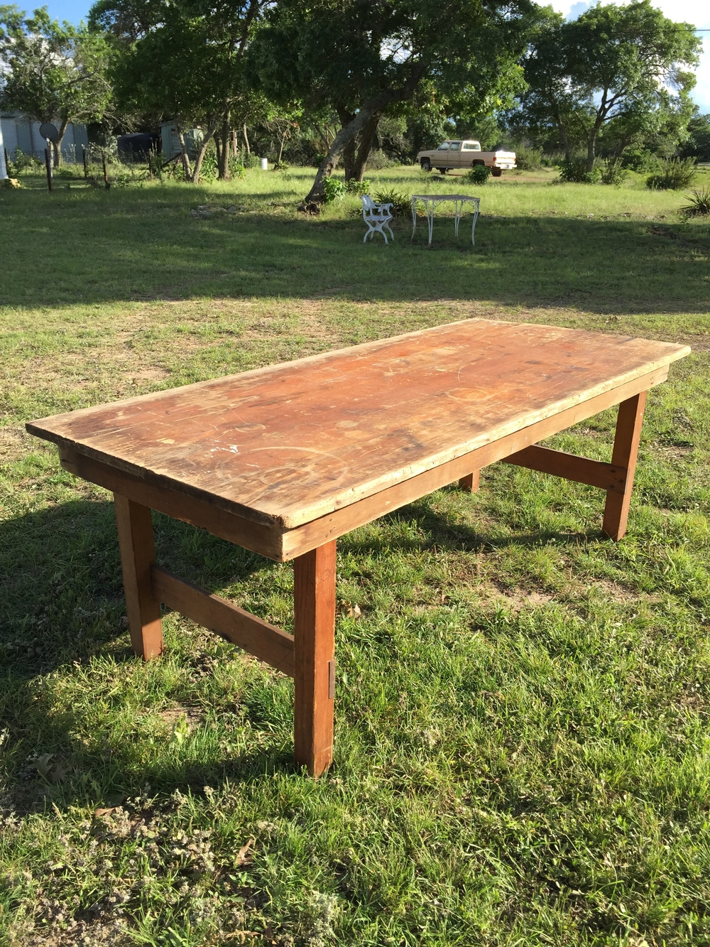 6 ft Non Folding Wooden Farm Table