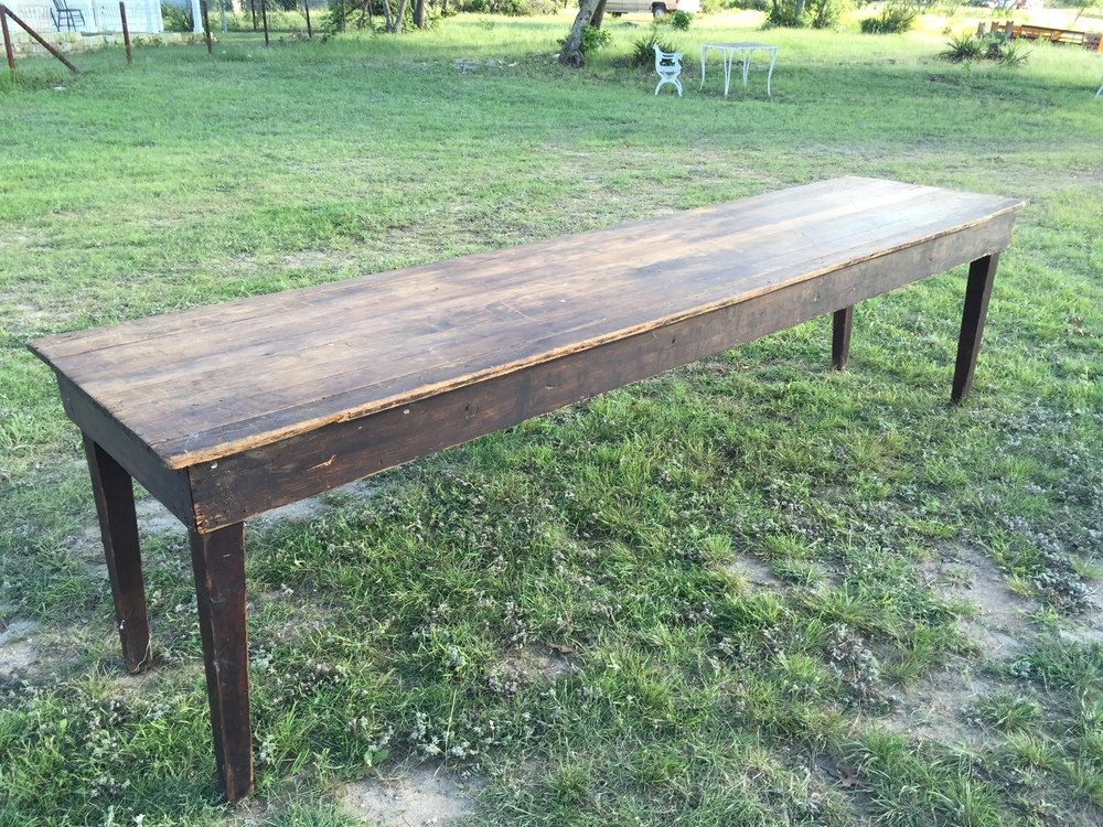 10 ft Dark Wood Farm Table