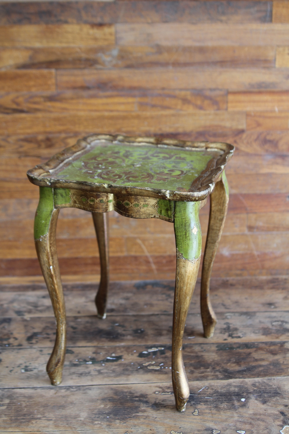 Petite Green Florentine Side Table