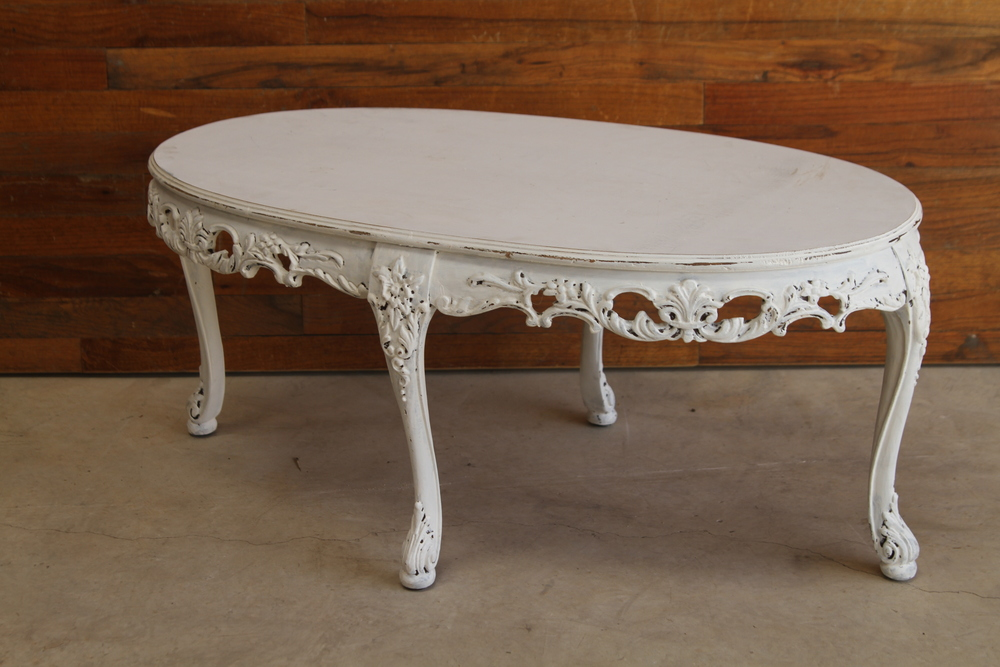 Ornate White Coffee Table