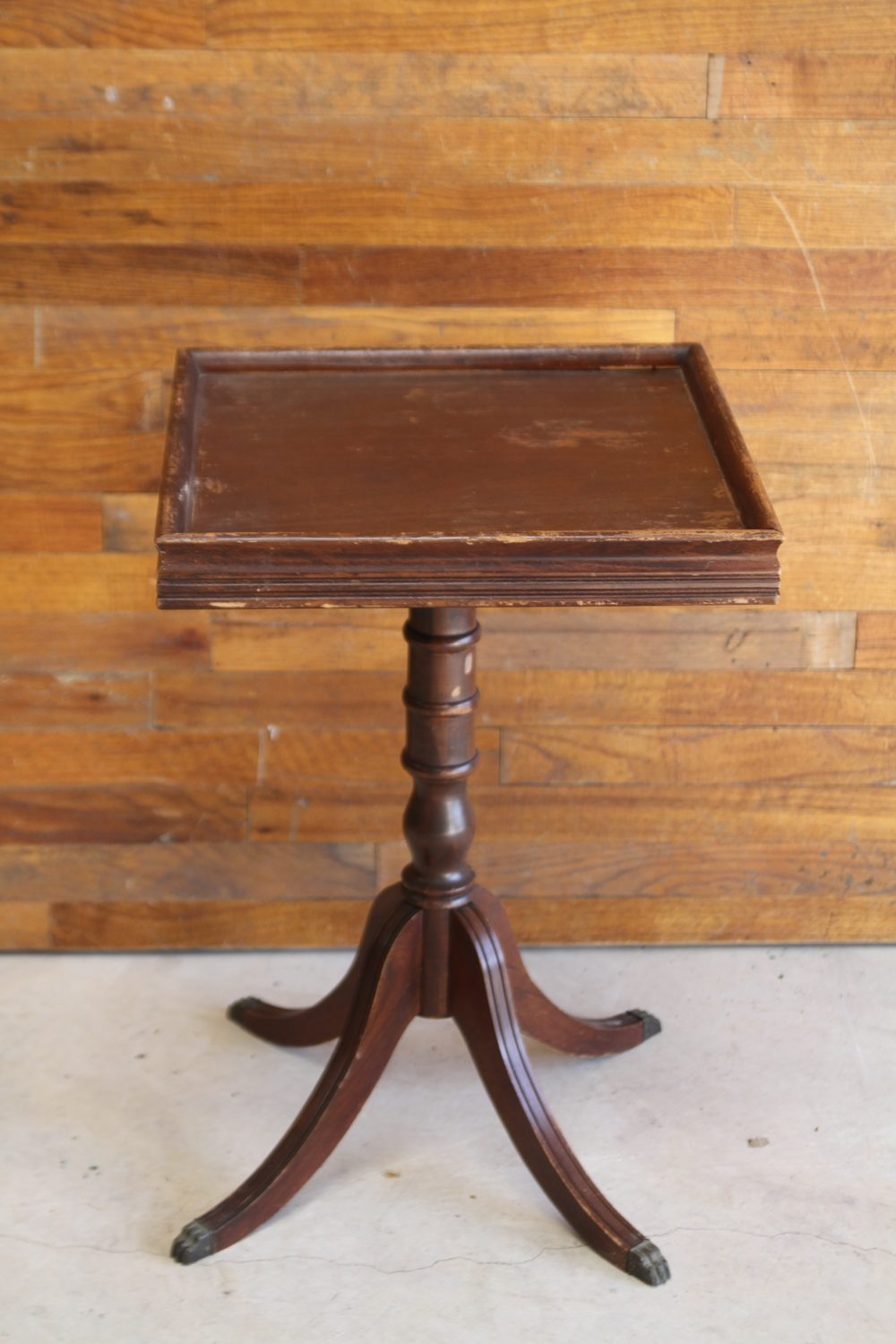 Wooden Pedestal Side Table