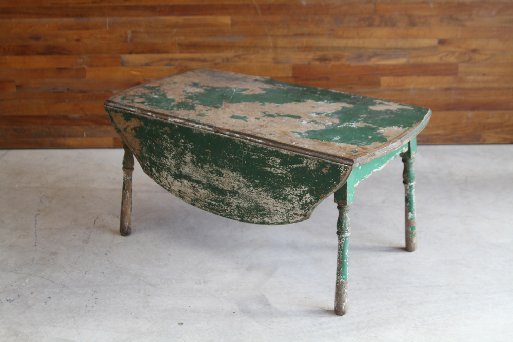 Drop Leaf Weathered Green Coffee Table