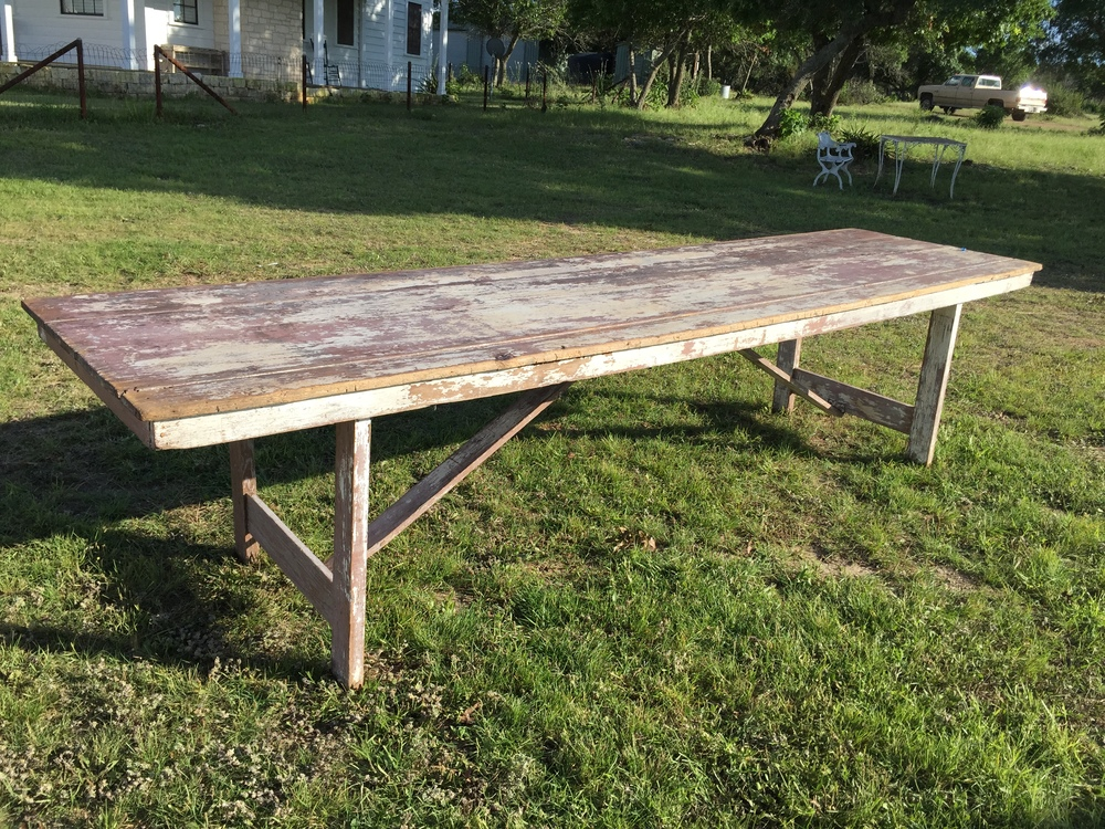 12 ft Weathered Mauve Farm Table