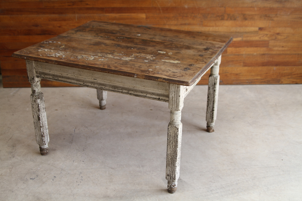 Weathered Wooden Top Table