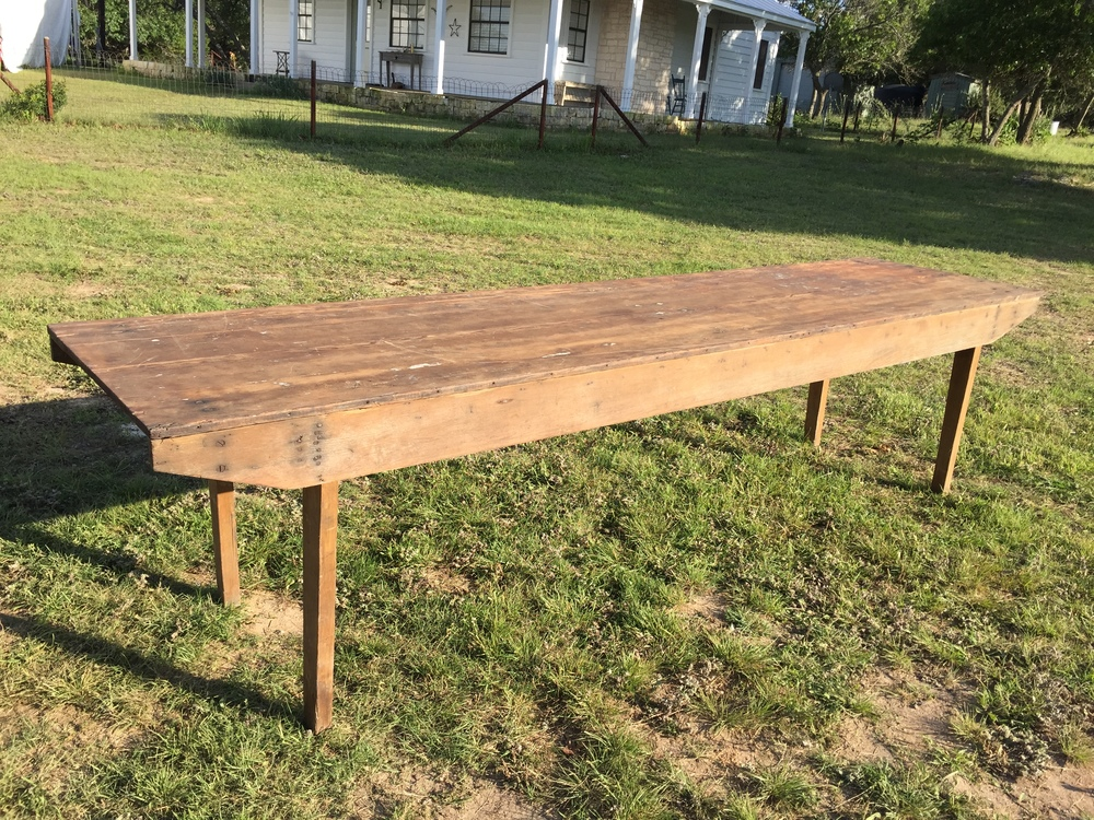 10 ft Rustic Wooden Farm Table