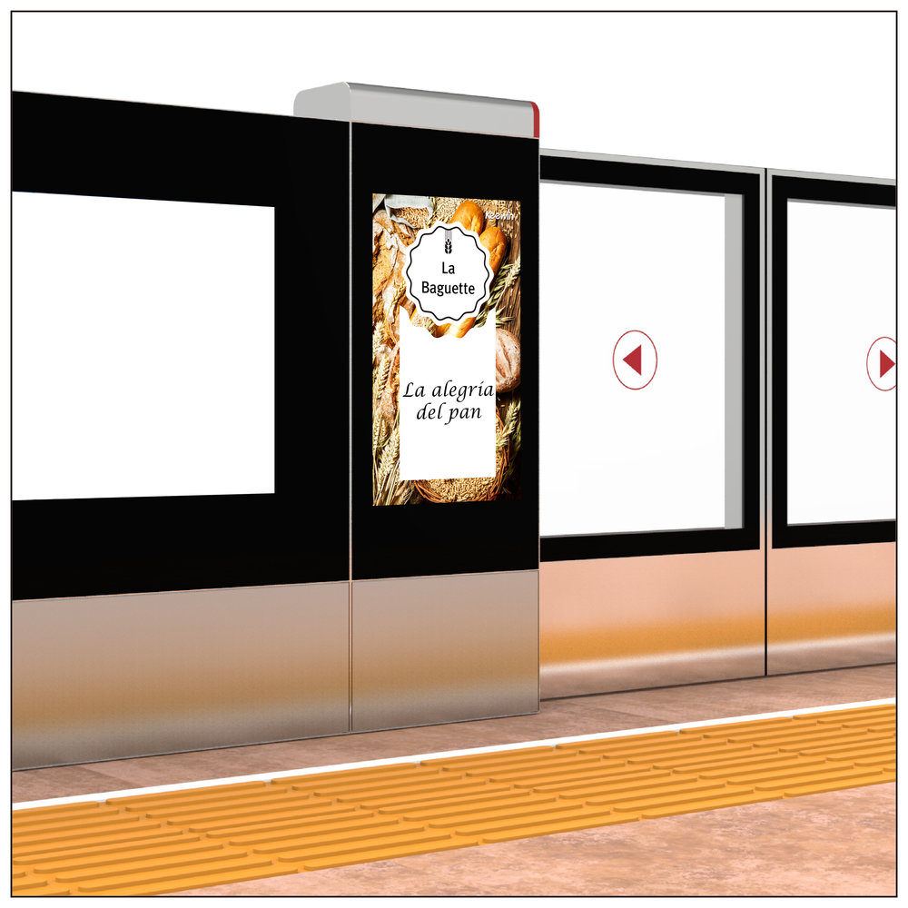 Train / Metro Platform Screen Door Displays
