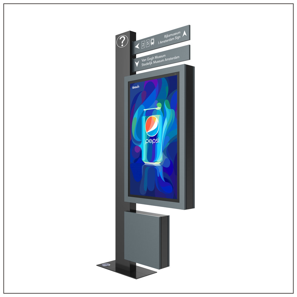 Wayfinding LCD Kiosk - Fully Enclosed System