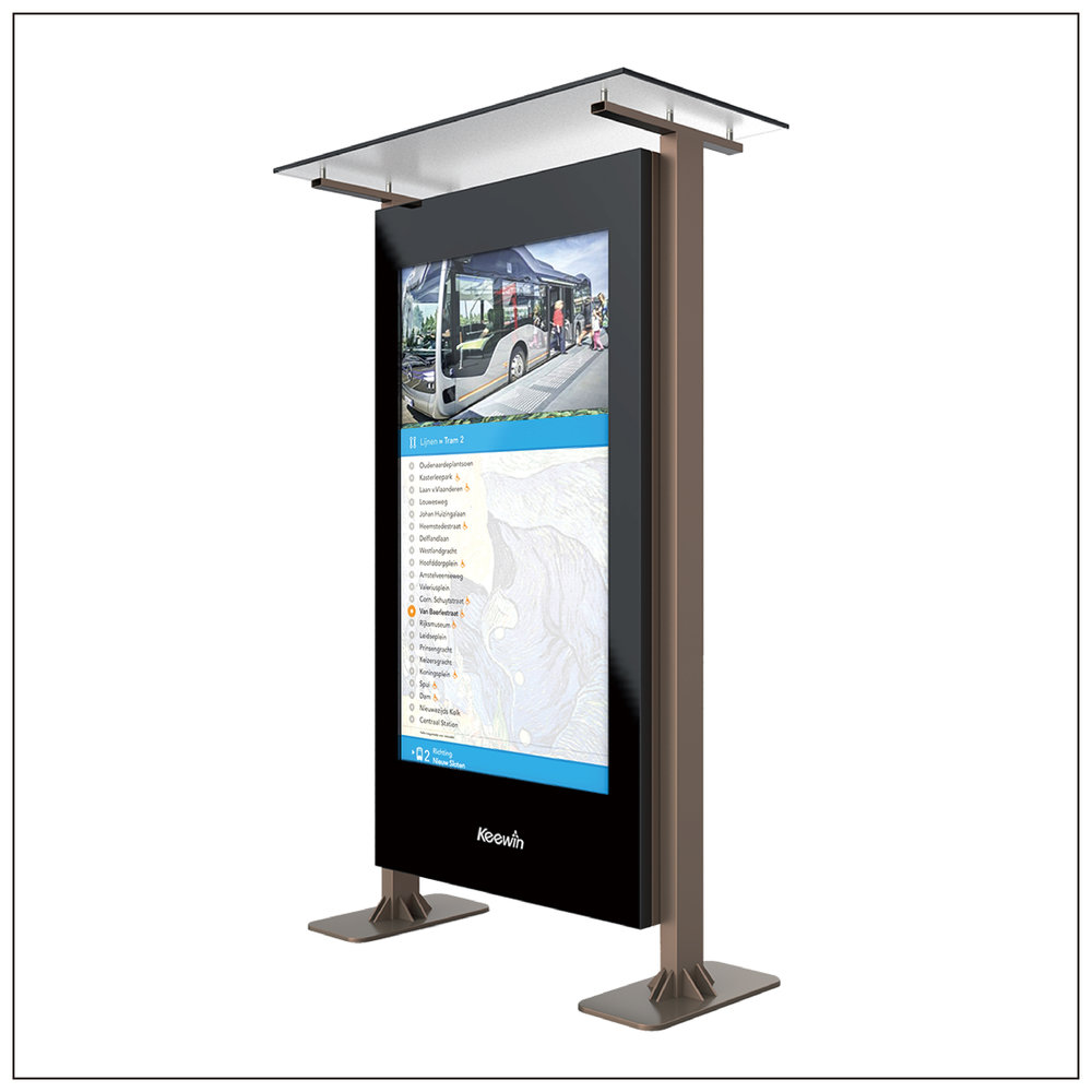 Public Transport Station Displays - Panel Size: 70,75 inchBrightness : 3000 nitResolution: 1920 × 1080