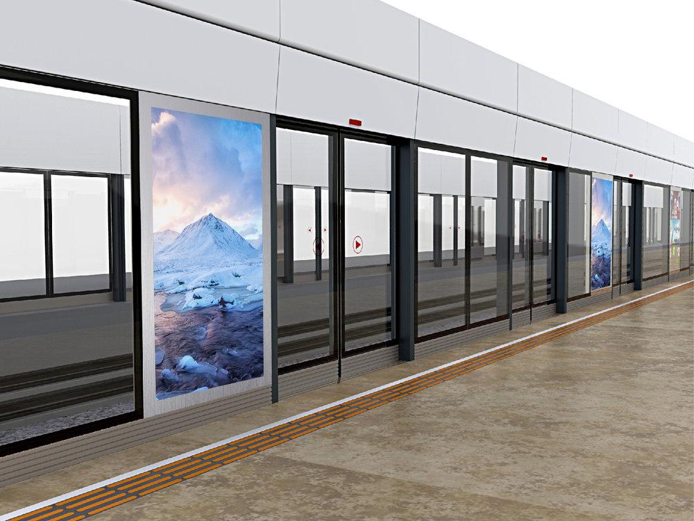 Train/Metro Platform Screen Door Displays