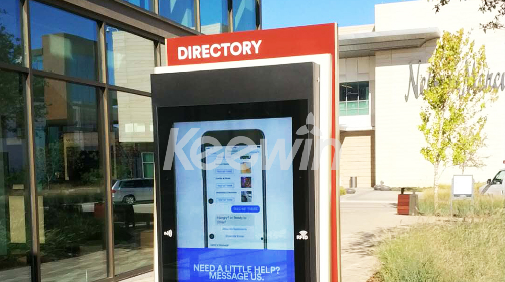 65 inch Outdoor LCD Display-10 Points Nano Touch   Clearfork Fashion Center