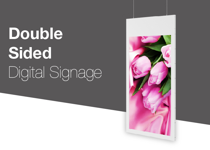 Dual Side Digital Signage - 43 / 55 inch LCD ScreenAndroid OS (standard)Windows OS (option)TV Board (option)