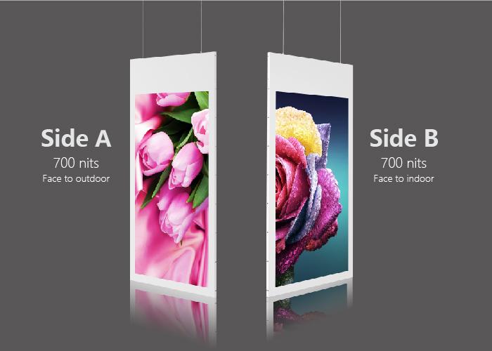 Dual Side - Side A: 700 nitsSide B: 700 nits