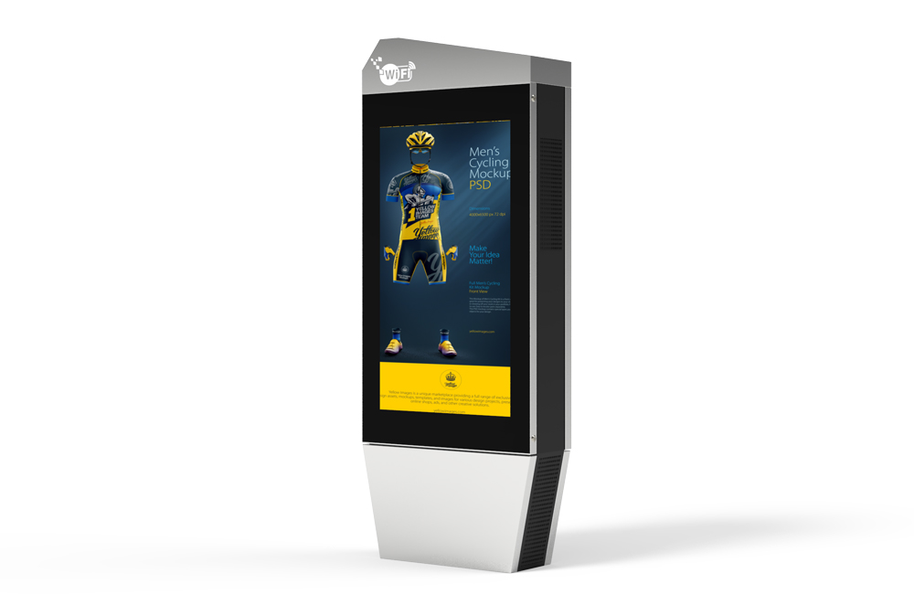 Keewin display outdoor 65 inch high brightness Dual Side LCD Kiosk.jpg